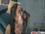 Naughty schoolgirls punished by teacher 2