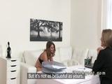 Female agent enjoy in lesbian casting