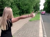 Stranded Blonde Hitchhiker Is Picked Up And Fucked