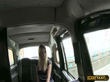 Huge titties blonde babe goes hardcore anal sex in the cab