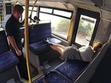 Sleeping Babe Woken Up And Fucked In The Bus