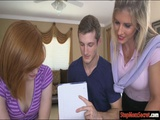 Tempting milf threesome with teen couple