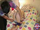 Beautiful teen Charlyse Angel gives an expert blowjob
