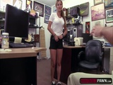 A hot brunette gets fuck to relieve her financial problems