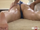 Cutie japanese babe Tia gets eaten and fuck from behind