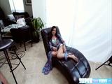 Brunette model Kharlie Stone gets fucked hard by Shawns big cock