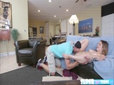 Lustful and super tiny Mia Scarlett gets fucked by pizza delivery guy