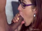 MOM Intimate creampie for brunette MILF 2