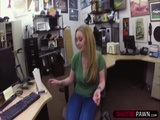 Alluring blonde gets her pussy fucked by Shawn in his office