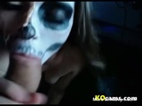 Skeleton Blowjob - Brunette Videos