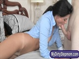 Milf India Summer nasty 3some on the bed 2