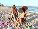 Smoking hot beach babes Kobi Brian and Gina Valentina