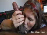 Mature Blowing Black Dick And Swallows Cum - Pov Videos