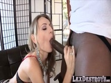 Blonde in high heels Natasha Starr gets fucked from behind by Lex