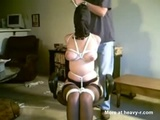 slave Nikki wrapped as a package - Bondage Videos