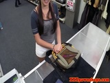Prudish pawnshop teen amateur suckingcock