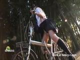 Schoolgirl Saddle Masturbation - Bike Videos