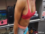 Gym trainer pussy fucked at the pawnshop