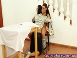 Glam clothed lesbians toy 2