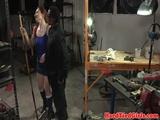 Redhead fem sub spanked and tied up ebi style