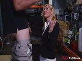 Blonde milf screwed up at the pawnshop