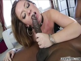 Maddy OReilly interracial pussy to mouth with massive cock