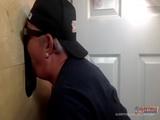 Interracial Gloryhole suck and Fuck