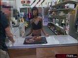 Wild ebony Lexxi gets banged and moans