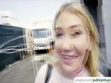 Hot blonde Zelda Morrison flashes perky natural tits