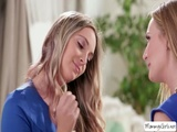 Hot teen Allie gets pussy licked by milf Mona Wales