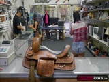 Brunette Lexie Banderas straddles a pawnmans cock