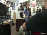Redhead babe Dolly swallows big cock