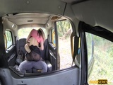 A bitchy Brunette Eva lured the driver for hard sex
