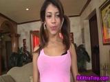 Petite latina face soaked