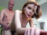 Young Russian Babe Drilled By Old Man Cock