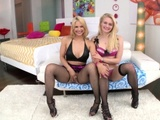 Curvy Blonde Sarah Vandella And Adorable Slut Alli Rae Are