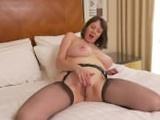 European big breasted housewife fingering herself