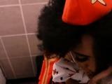 Beautiful Ebony Stewardess Gets Fucked In Public Toilet