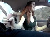 Huge Cumshot While Driving Down The Public Road