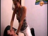 Ladies Smother Slaves With Their Hand