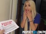 PropertySex - Petite entitled millennial fucks her landlord