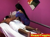Asian Masseuse Dickriding And Blowing Client