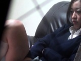 Asian Teenager Rubs Vag