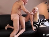 Student And Old Man Daddy Does Horny Platinum-blonde