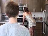 Horny Teen Boy Fucks Milf Stepmom In The Kitchen