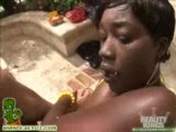 Ebony chick fucked by a long white dick